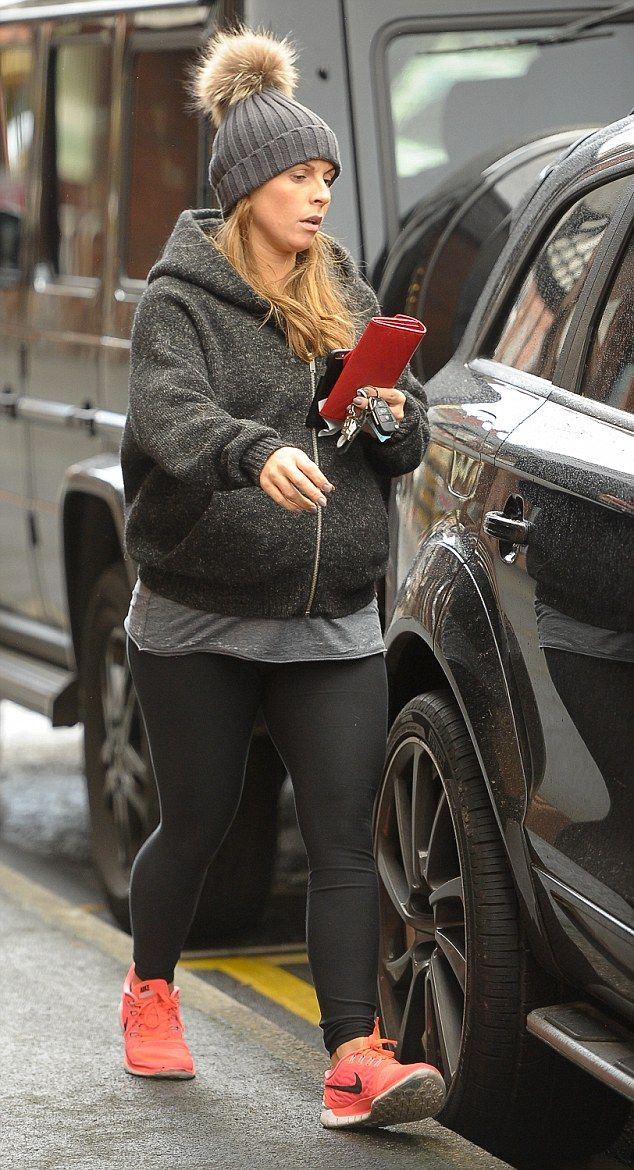 Getting ready: She's expected to give birth in the New Year and Coleen Rooney was pictured...