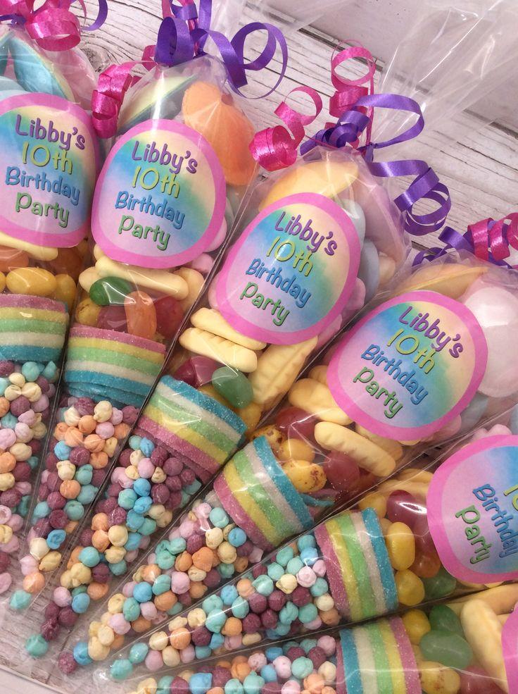 Rainbow Sweet Cones Unicorn Themed Birthday Party