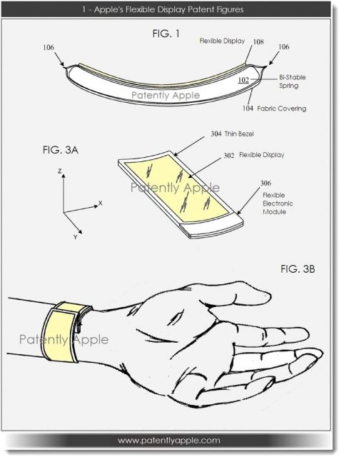 iClarified - Apple News - Apple Files Patent for Wearable Device With Flexible Display [iWatch]