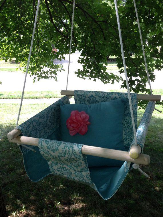 25 unique outdoor baby swing ideas on pinterest swings for Creative swing set ideas