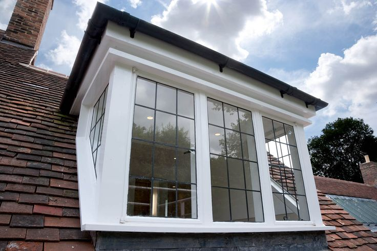 Leaded single glazed Sapele hardwood Dormer window.