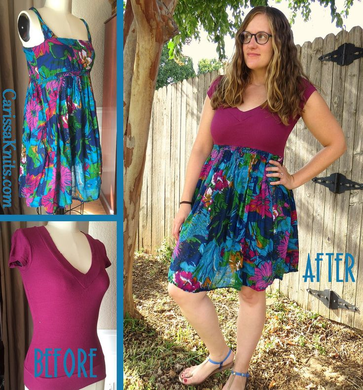 T-Shirt Dress Refashion by CarissaKnits