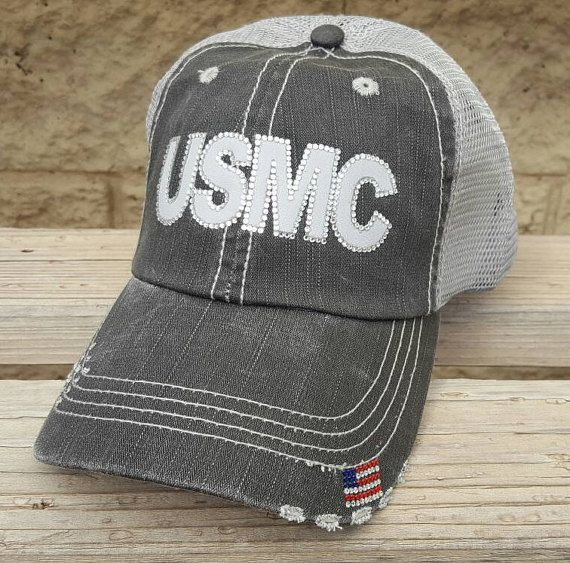 Marine wife, girlfriend or mom hat.  $29.99 Personalization included