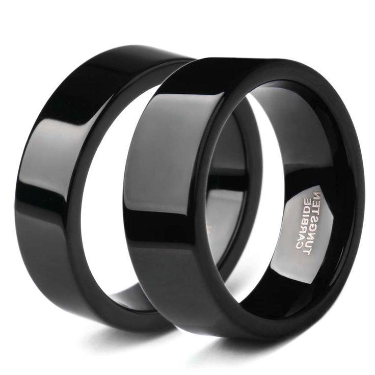 100% Чистый Черный Вольфрама Кольцо Мода Пара Кольца Обручальные Обручальное кольцо анель де formatura 6 ММ/8 ММ Выходные предложения
