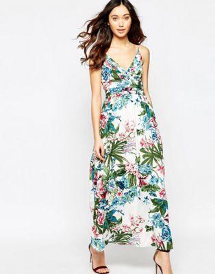 Iska Tropical Print Maxi Dress