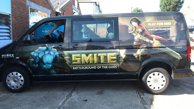 Creative Digitally printed vinyl fully wrapped van fitted by The Sussex Sign Company
