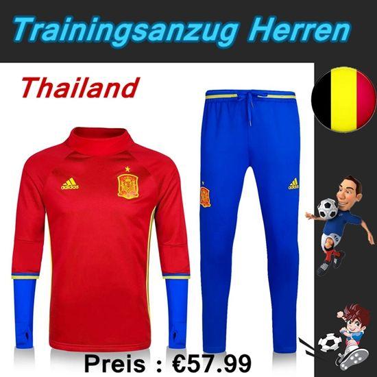 Neue Trainingsanzüge Fussball Herren Kits Spanien Rot Blau Saison 2016 2017 Deutschland Billig Kaufen