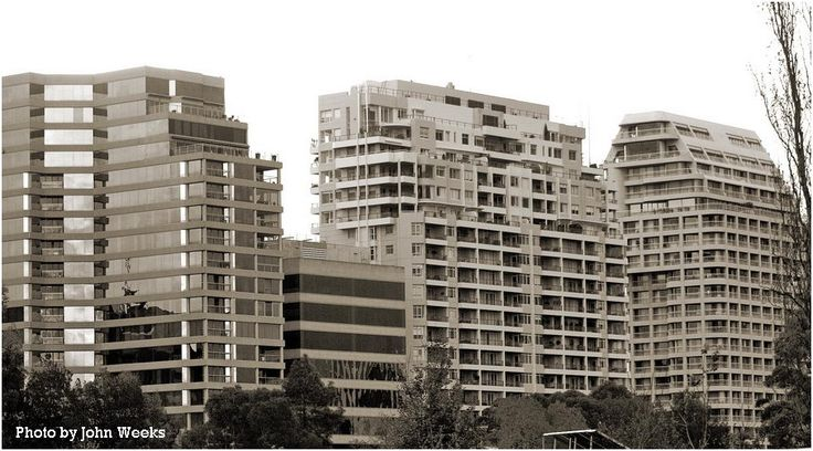 Apartment & Office Buildings adjacent to the Fawkner Park, South Yarra, Victoria, Australia