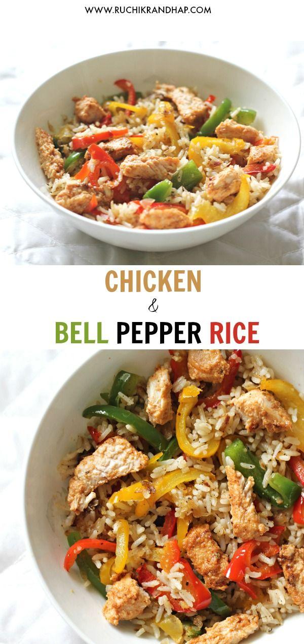 Chicken Bell Pepper Rice In 2020 Chicken Bell Pepper Recipes Stuffed Peppers Stuffed Bell Peppers