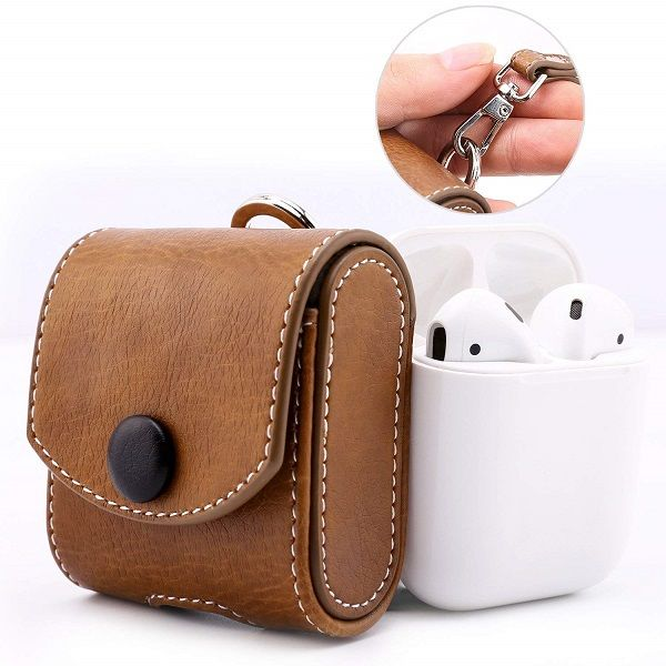 Apple Airpods Leather Case Wireless Bluetooth Case For Airpods Online Leather Case Protective Cases Pocket Pouch