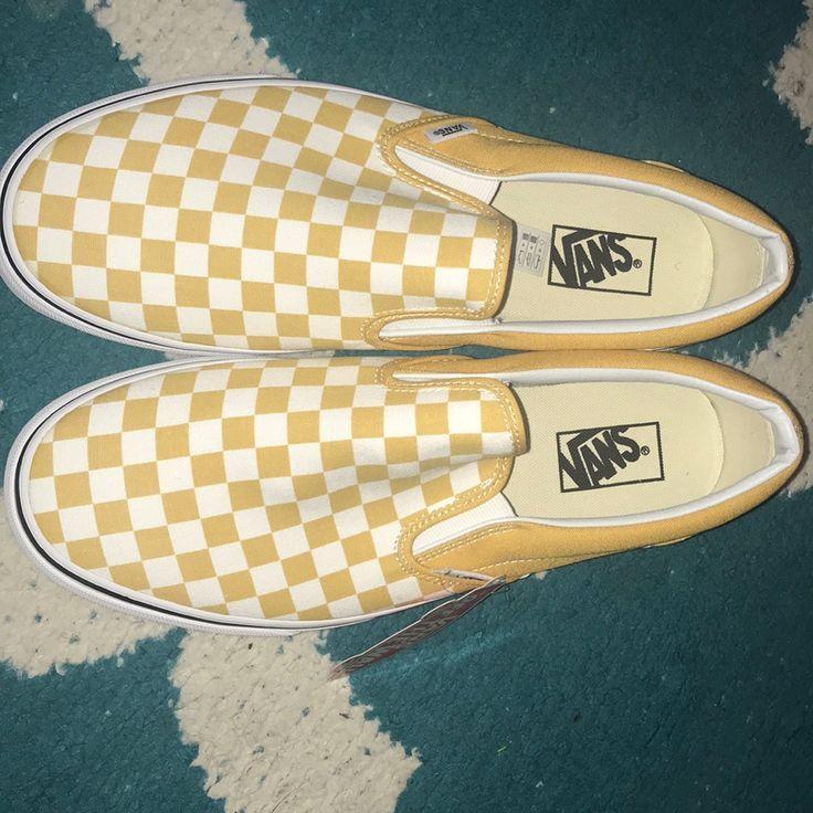 Vans Shoes | Mustard Yellow Checkered