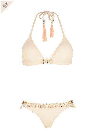 Maillot de bain 2 pièces coquillages Beauty Nude Hipanema for Amenapih prix promo Maillot de Bain Monshowroom 115.00 €