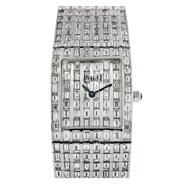 Piaget White Gold Polo Watch with After-Market Diamonds | From a unique collection of vintage wrist watches at https://www.1stdibs.com/jewelry/watches/wrist-watches/ $64,000