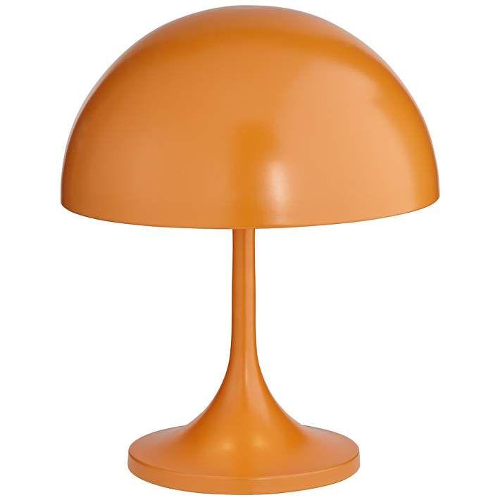 Tangelo 18 High Orange Metal Mushroom Dome Accent Table Lamp 84t64 Lamps Plus In 2021 Lamp Retro Table Lamps Modern Lamp Design