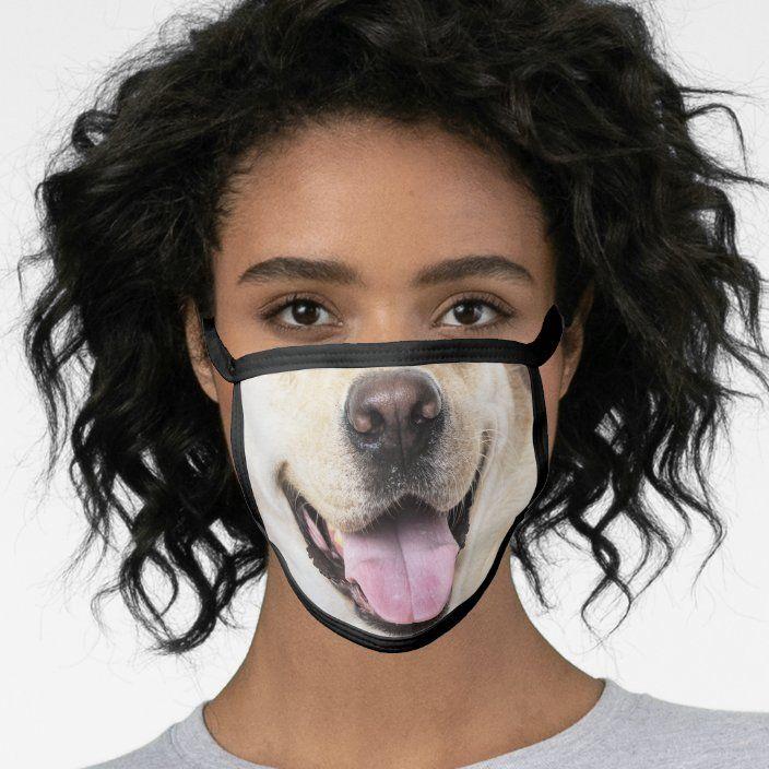 Fun Dog Face Animal Face Mask Zazzle Com In 2020 Animal Face