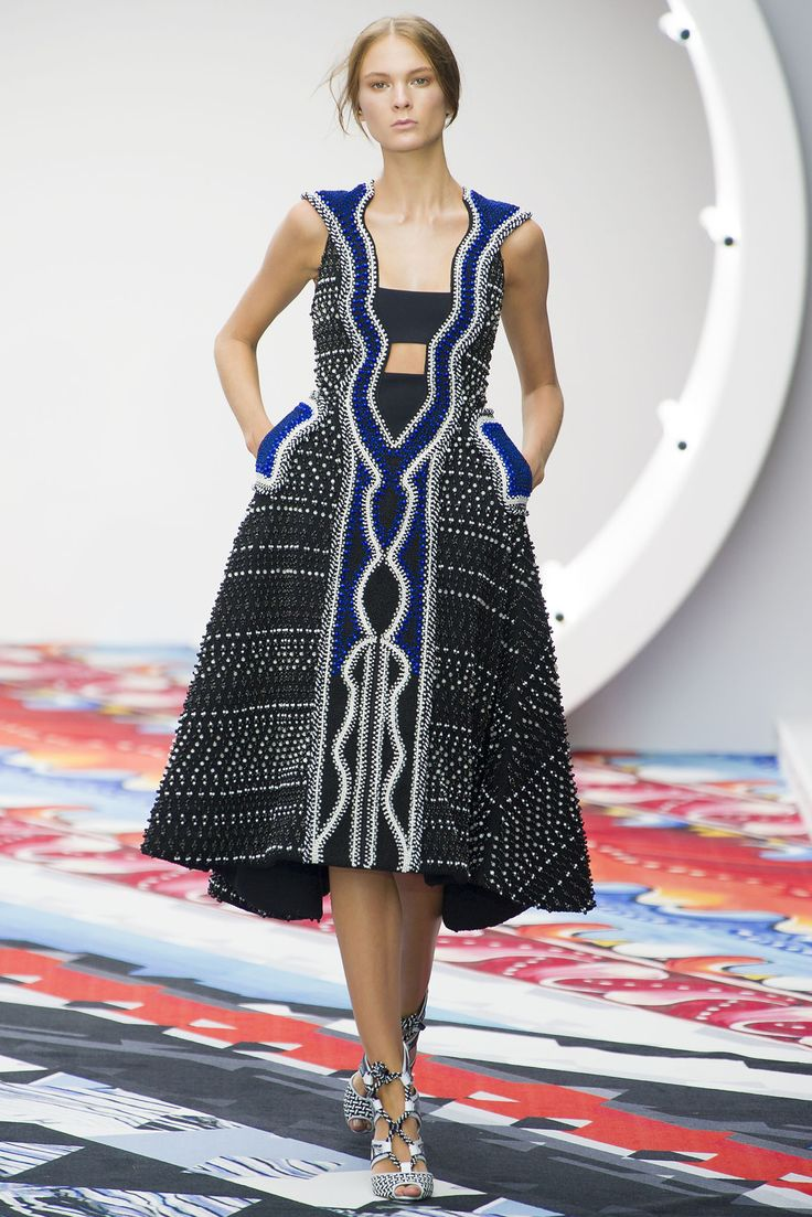 Peter Pilotto beaded beauty. ~Latest African Fashion, African Prints, African fashion styles, African clothing, Nigerian style, Ghanaian fashion, African women dresses, African Bags, African shoes, Kitenge, Gele, Nigerian fashion, Ankara, Aso okè, Kenté, brocade. DK