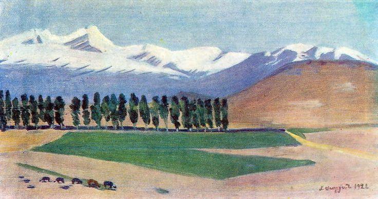 'Aragats', 1922 by Martiros Saryan (1880-1972, Russia)