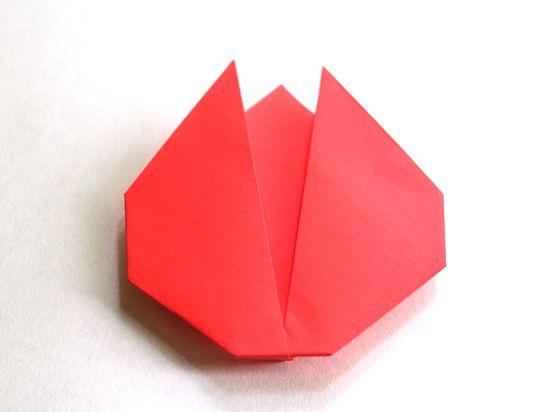 Simple folded origami tulip