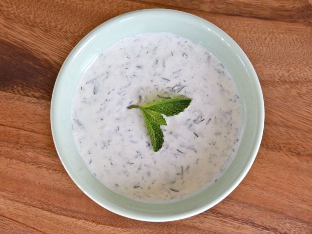Chilled Greek Yogurt Soup - no heating up the stove for this one ...