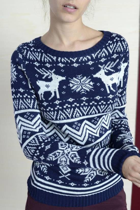 Sweter w skandynawskie wzory pomysł na prezent online