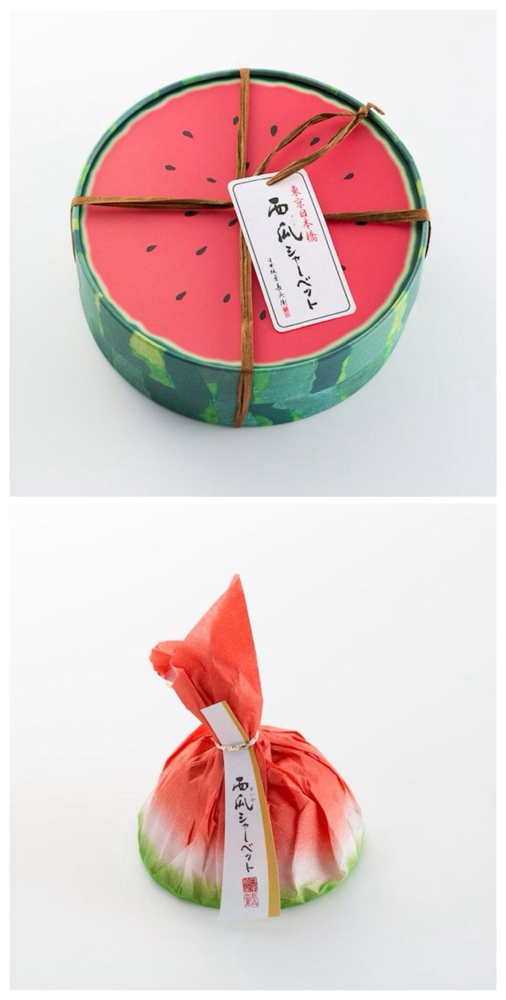 Lovely Japanese Watermelon sweet packaging #packaging #design #graphicAsia