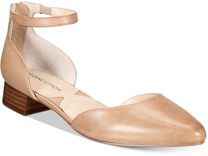 Adrienne Vittadini Soto Ankle-Strap Flats Women's Shoes