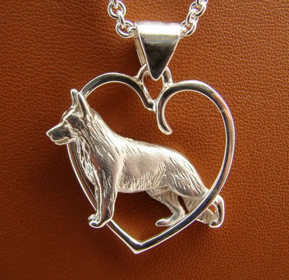 another love!!!!!Large Sterling Silver German Shepherd Dog Standing by BestK9buds