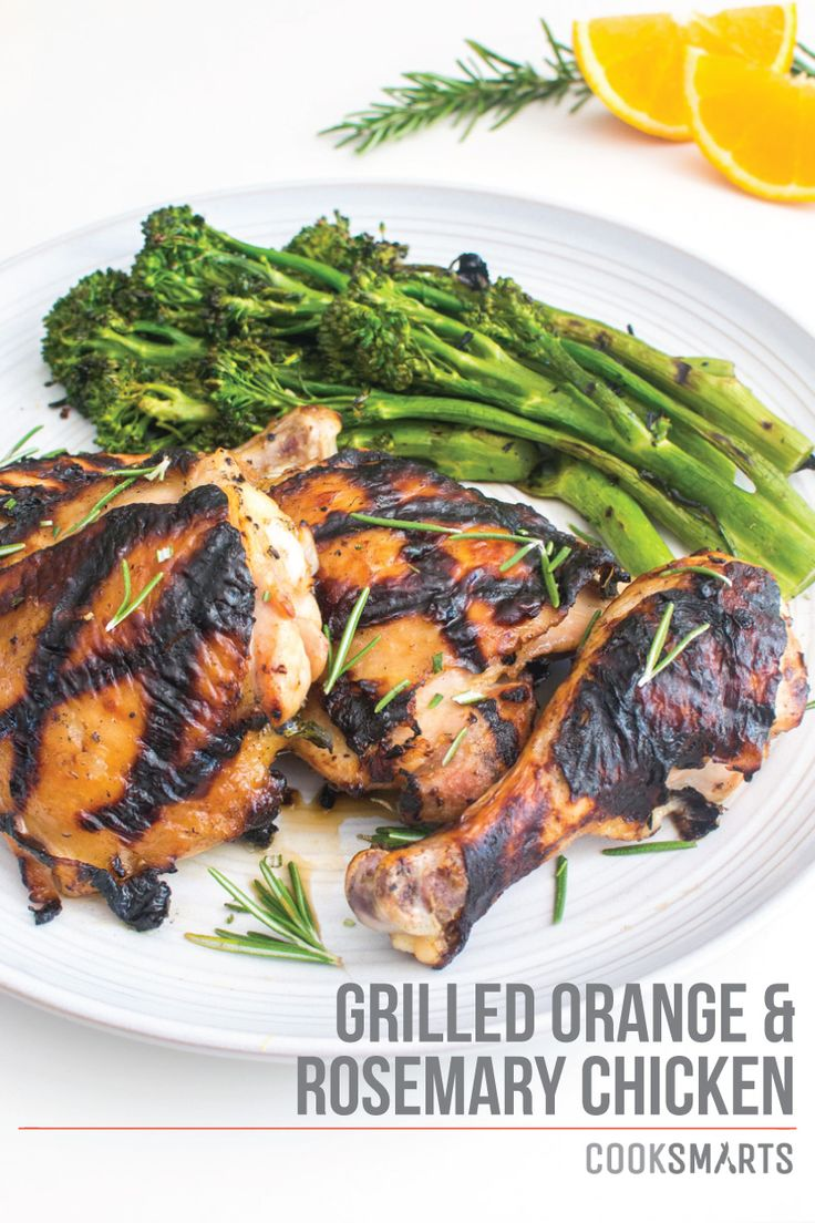 Grilled Orange-Rosemary Chicken | Weeknight Meal #recipe via ...