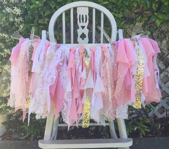 Pink and Gold Highchair Banner  Pink and Gold Highchair Tutu