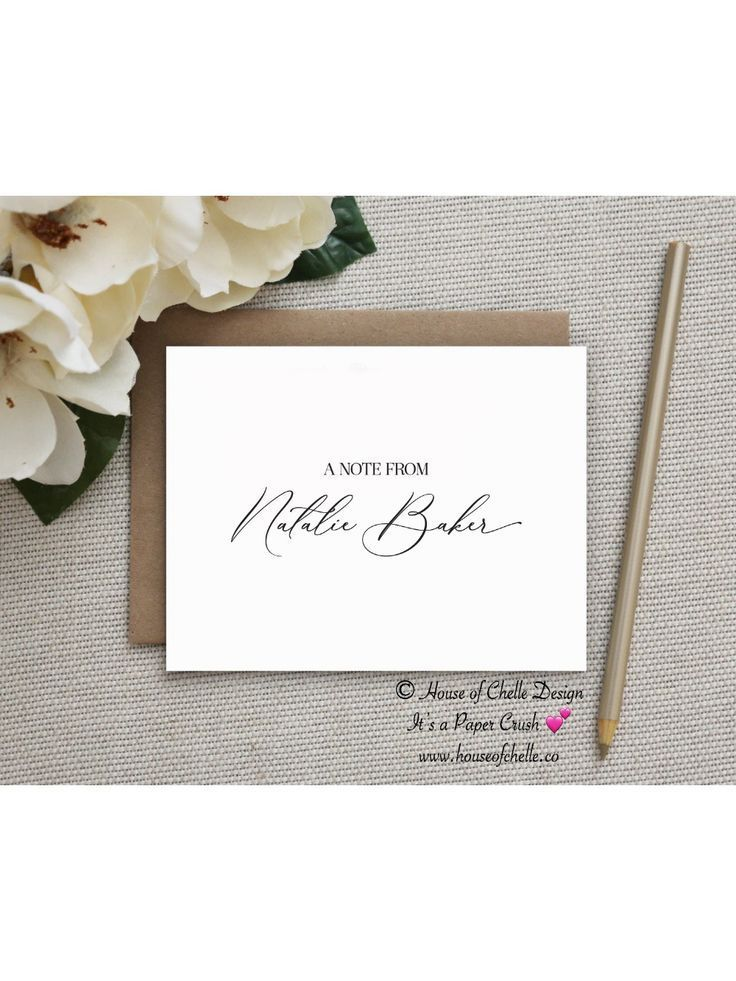 PERSONALIZED STATIONERY SET A Note From Feminine script stationery Mother/'s Day gift Personalized Thank you Cards Stationary Personalized