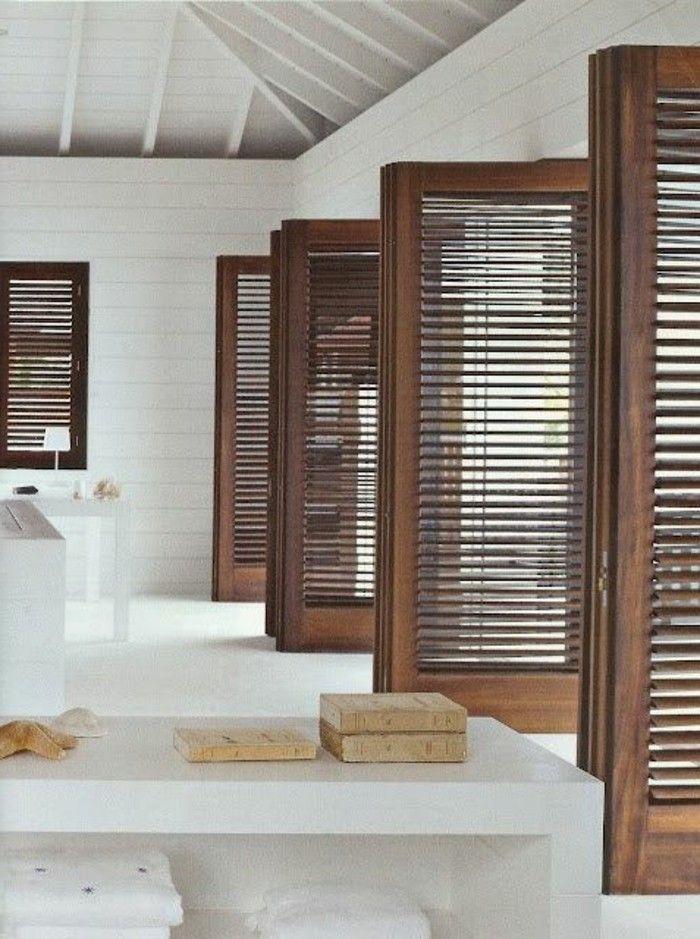 porte persienne pour les fenetres dans la maison moderne