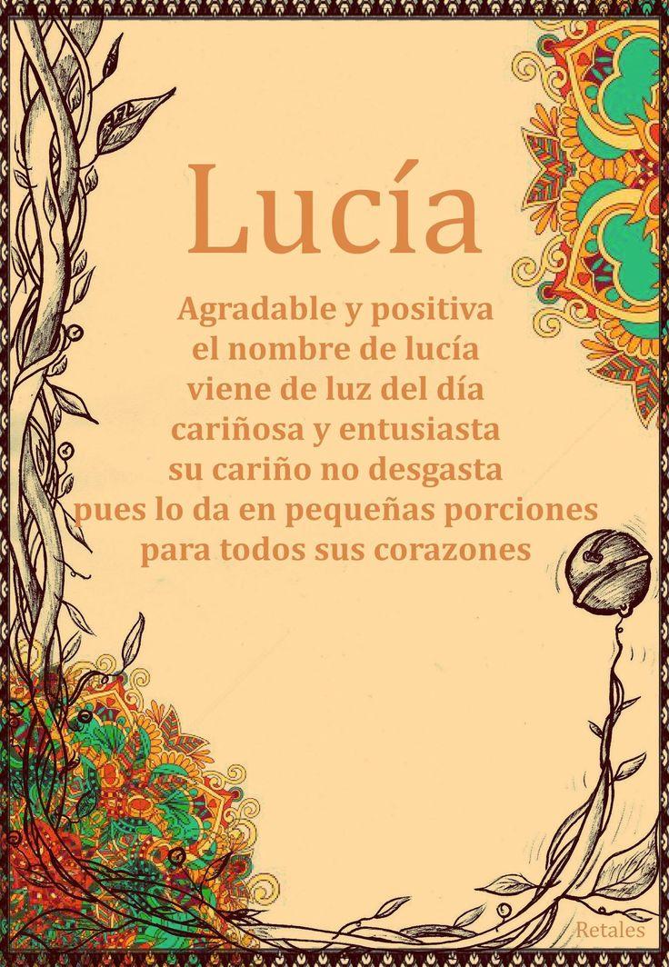 Que significa tu nombre... - Lucía #wattpad #de-todo