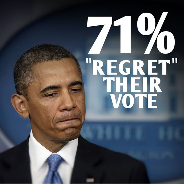New poll by YouGov shows that 7/10 people who voted for President Obama's re-election in 2012 'regret' doing so…