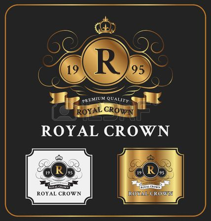 Heraldic Crest Logo Template Design Retro Vintage Royal Luxury cr of the glove with your monogram Con Image Gallery