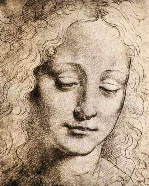 Image: Leonardo da Vinci - Head of a Young Girl