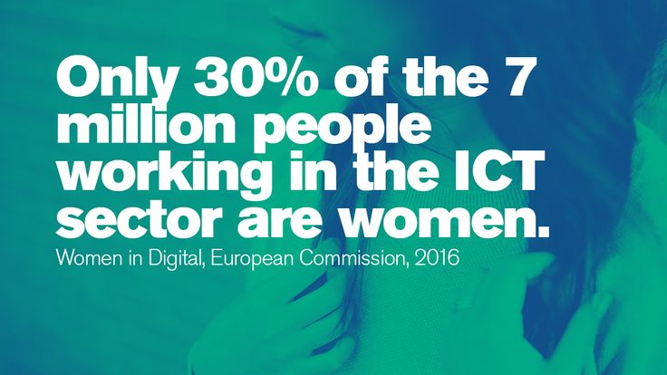 Only 30% of the 7 million people working in the ICT sector are women. #IWD  #Gettingtoequal #BeBoldforChange #InternationalWomensDay #WomensHistoryMonth #ifactory  #Ifactorydigital