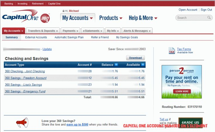 Simple Guidance For You In Capital One Account Number On
