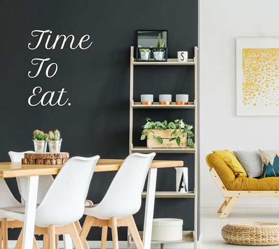 Time To Eat Wall Sticker Quote Decal Art Decor Dining Room Kitchen Stickers
