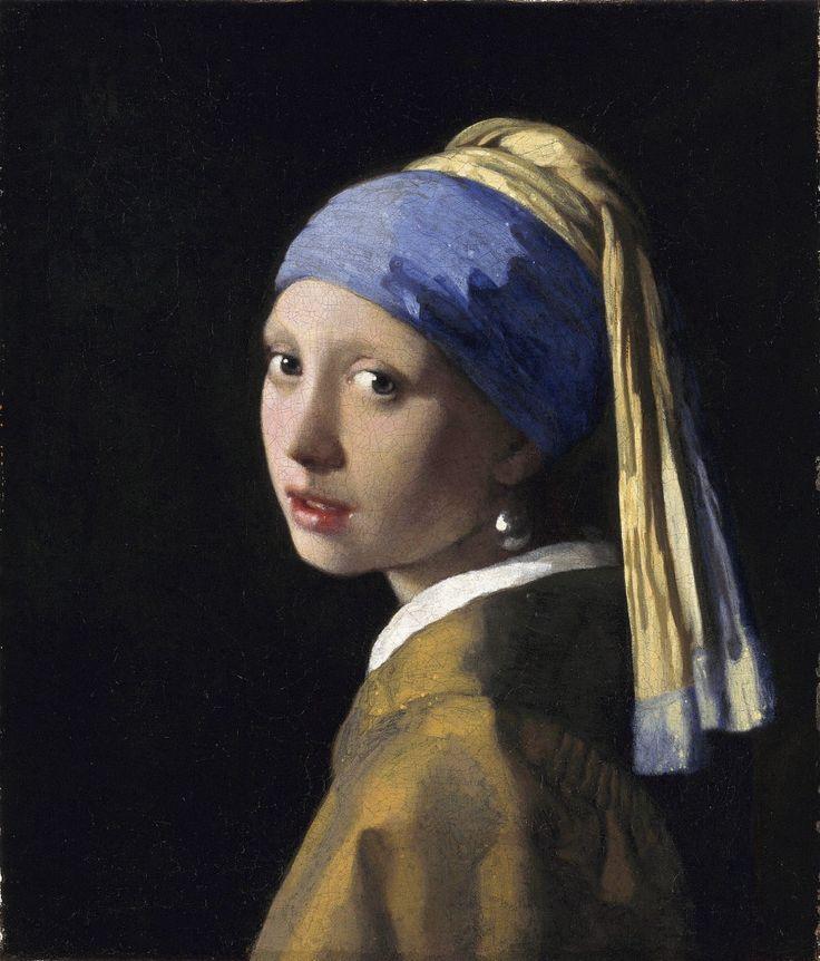フェルメール  ターバンの娘  1665  46,5 x 40 cm   マウリッツハイス美術館  ハーグ  オランダ