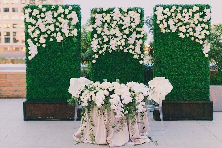 Featured photographer: Mike Olbinski Photography; Wedding reception head table idea