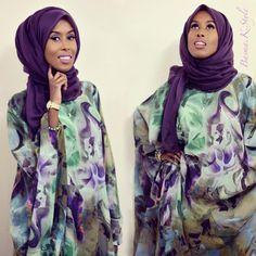 Basma K. wearing traditional somali dress; dirac
