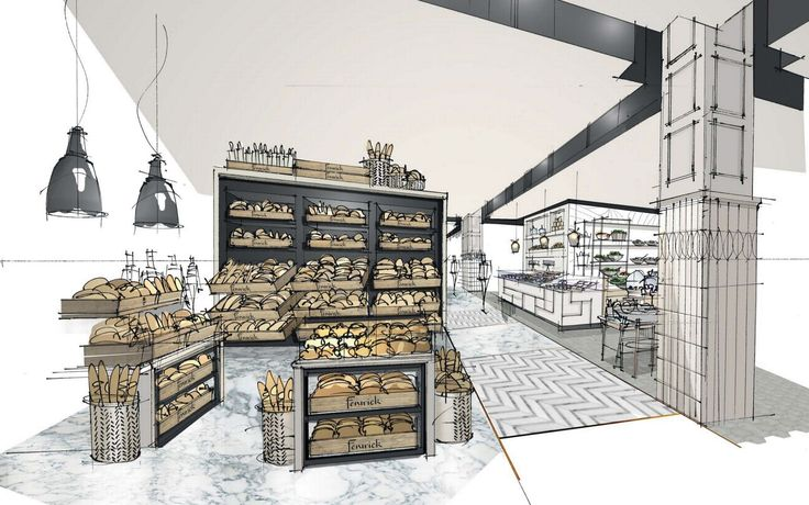 An Artistu0027s Impression Of The Bakery In The Upcoming Revamp Of Fenwicku0027s  Food Hall And Wine Shop In Newcastle