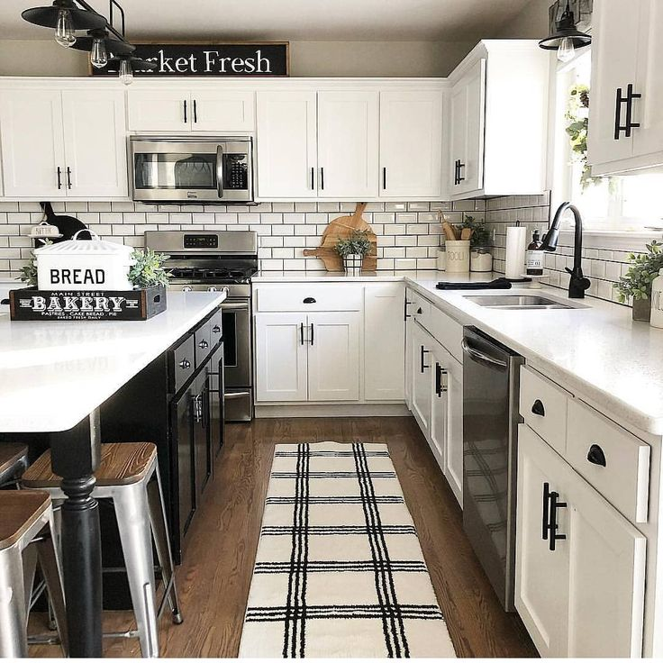 """Farmhouse Life Goals ? on Instagram: """"This kitchen is beautiful! ?? ? Be sure to sign up for our newsletter ? ? Check out our blog…"""