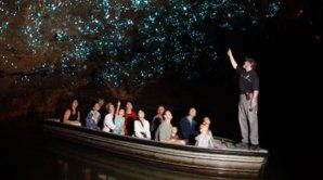Waitomo Glowworm Cave boat rid