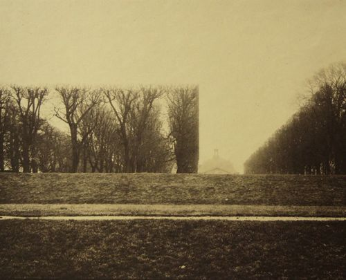 Square in the Garden of Sceaux, 1865 , 20 x 24 inches, salt print, 1993