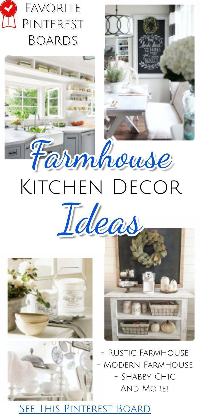 Farmhouse Kitchens See All These Kitchen Decor Ideas On This Pinterest Board Chic Home Shabby Homes