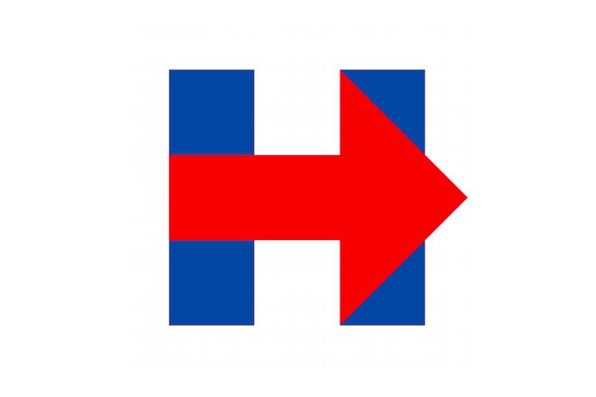 "Logo da campanha de Hillary Clinton à presidência nao agradou – ""feito no Paint""?"
