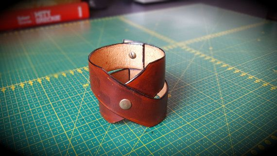 Brown Handmade Leather Bracelet Women's Leather by CrusaderArmoury