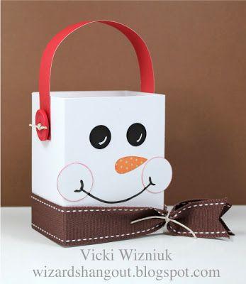 Wizard's Hangout: Snowman Treat Box