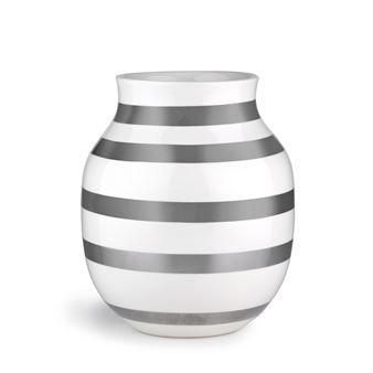 Omaggio Vase silber - mittel - Kähler